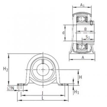 INA PBY25 bearing units