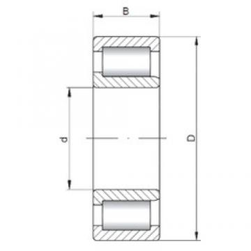 80 mm x 170 mm x 58 mm  ISO NJF2316 V cylindrical roller bearings