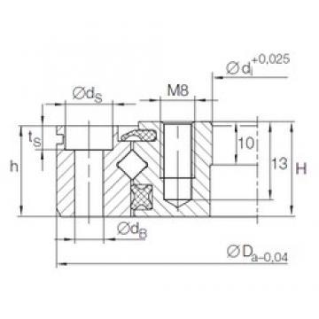 INA XU 05 0077 thrust roller bearings