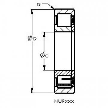 AST NUP2218 EM cylindrical roller bearings