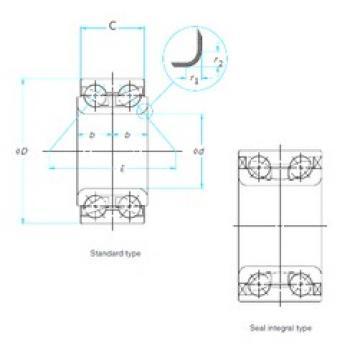 42 mm x 84 mm x 36 mm  SKF BA2B444090AB angular contact ball bearings