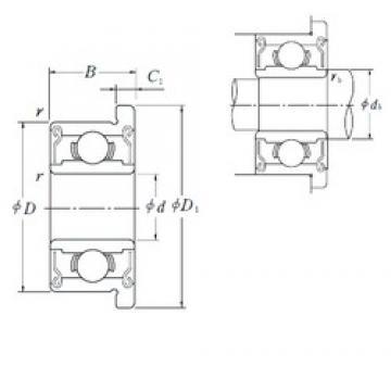 6 mm x 15 mm x 5 mm  ISO F696-2RS deep groove ball bearings