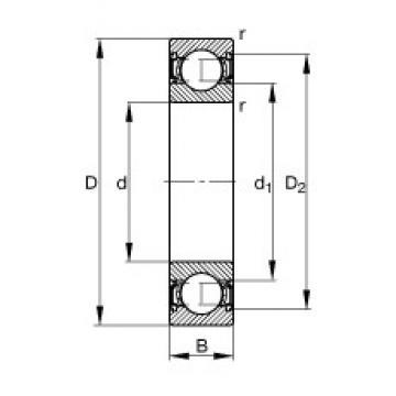 12 mm x 32 mm x 14 mm  FAG 62201-2RSR deep groove ball bearings