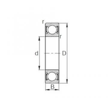 240 mm x 300 mm x 28 mm  CYSD 6848-2RS deep groove ball bearings