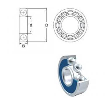 90 mm x 160 mm x 30 mm  ZEN 6218-2RS deep groove ball bearings