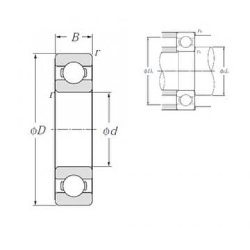 55 mm x 72 mm x 9 mm  NTN 6811 deep groove ball bearings