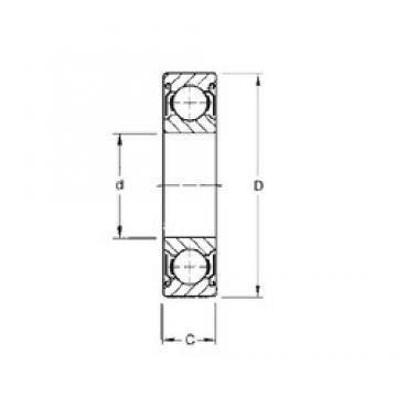 15,875 mm x 34,925 mm x 8,73 mm  CYSD R10-ZZ deep groove ball bearings