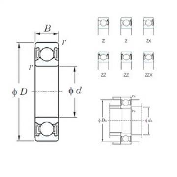 160 mm x 240 mm x 38 mm  KOYO 6032ZX deep groove ball bearings
