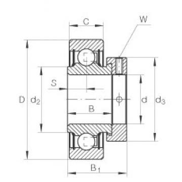 25 mm x 52 mm x 21,4 mm  INA RAE25-NPP-FA106 deep groove ball bearings