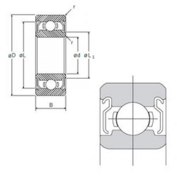 12 mm x 24 mm x 6 mm  NMB R-2412X3KK deep groove ball bearings