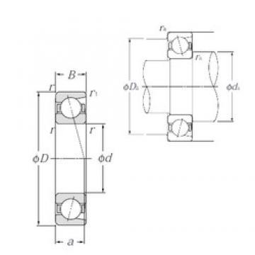 150 mm x 320 mm x 65 mm  NTN 7330B angular contact ball bearings