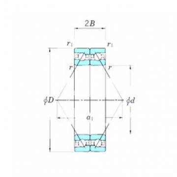 KOYO ACT009DB angular contact ball bearings