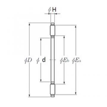 NTN AXK1103 needle roller bearings