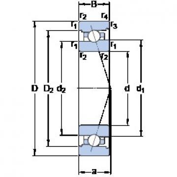 70 mm x 100 mm x 16 mm  SKF 71914 CB/HCP4A angular contact ball bearings