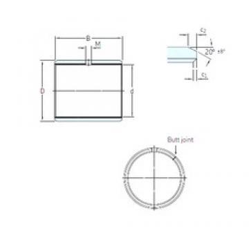 19.05 mm x 22,225 mm x 12,7 mm  SKF PCZ 1208 E plain bearings