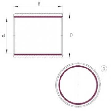 14 mm x 16 mm x 15 mm  INA EGB1415-E40 plain bearings