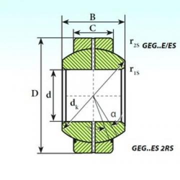 40 mm x 68 mm x 40 mm  ISB GEG 40 ES plain bearings