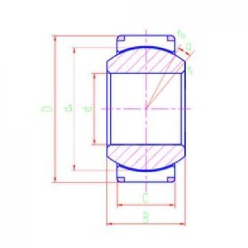 180 mm x 260 mm x 128 mm  LS GEH180XT-2RS plain bearings