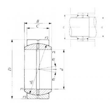20 mm x 35 mm x 16 mm  IKO GE 20ES plain bearings