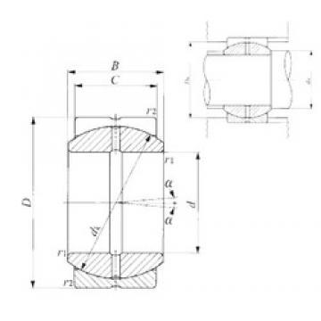 80 mm x 130 mm x 70 mm  IKO SB 80A plain bearings