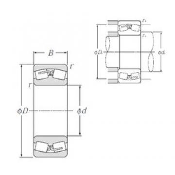 190 mm x 320 mm x 128 mm  NTN 24138B spherical roller bearings