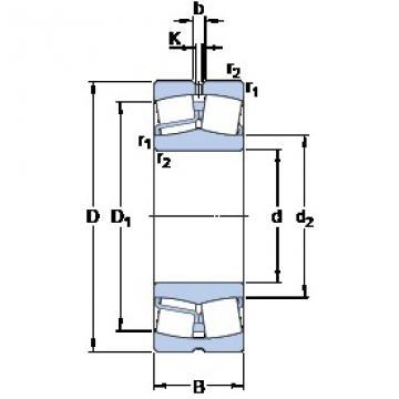 130 mm x 230 mm x 64 mm  SKF 22226 E spherical roller bearings