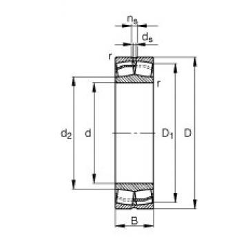 90 mm x 160 mm x 40 mm  FAG 22218-E1 spherical roller bearings