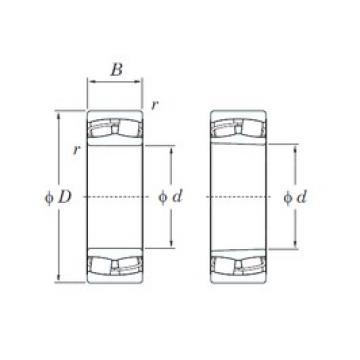 110 mm x 240 mm x 80 mm  KOYO 22322RHR spherical roller bearings