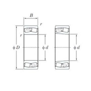 460 mm x 680 mm x 218 mm  KOYO 24092RHA spherical roller bearings