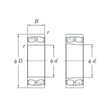 530 mm x 780 mm x 250 mm  KOYO 240/530RK30 spherical roller bearings