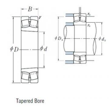 40 mm x 90 mm x 33 mm  NSK 22308EAKE4 spherical roller bearings
