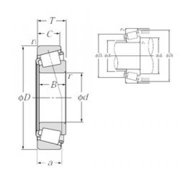 152,4 mm x 192,088 mm x 24 mm  NTN 4T-L630349/L630310 tapered roller bearings