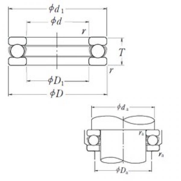 NSK 51116 thrust ball bearings #3 image