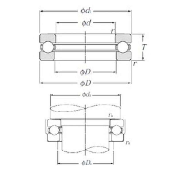 NTN 51334 thrust ball bearings #3 image