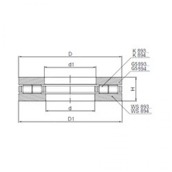 ISO 89309 thrust roller bearings #3 image
