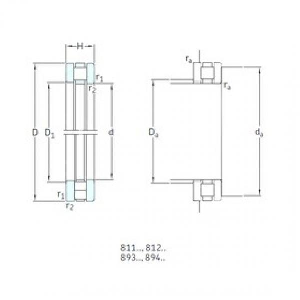 300 mm x 420 mm x 28,5 mm  SKF 81260M thrust roller bearings #1 image