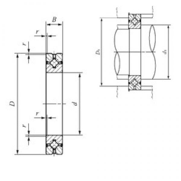 140 mm x 200 mm x 25 mm  IKO CRBH 14025 A UU thrust roller bearings #1 image