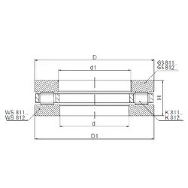ISO 81132 thrust roller bearings #3 image