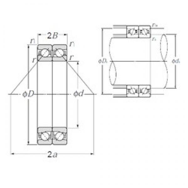 90 mm x 140 mm x 22,5 mm  NTN HTA018DB angular contact ball bearings #3 image