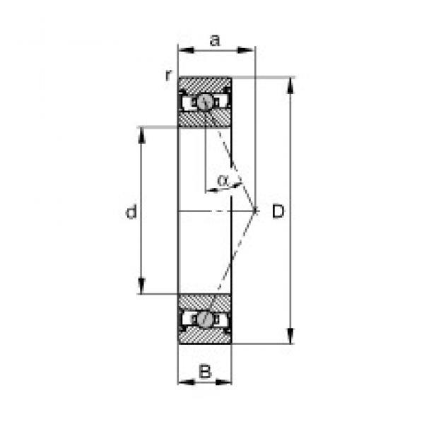 60 mm x 95 mm x 18 mm  FAG HCS7012-E-T-P4S angular contact ball bearings #3 image