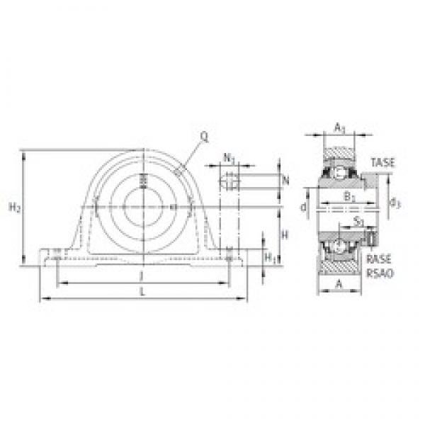 INA RASE90 bearing units #3 image