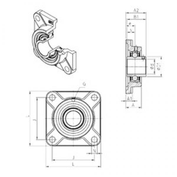 SNR UCF317 bearing units #3 image