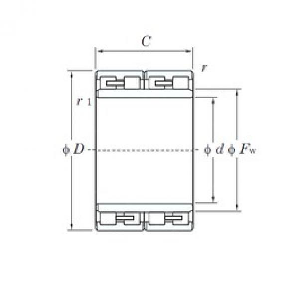 170 mm x 250 mm x 168 mm  KOYO 34FC25168 cylindrical roller bearings #3 image