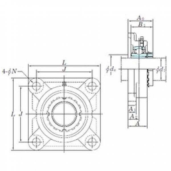 KOYO UKF306 bearing units #3 image