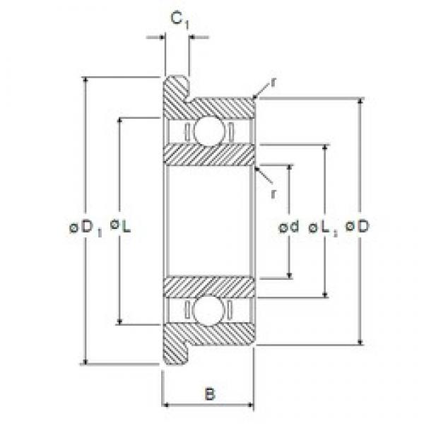 5 mm x 16 mm x 5 mm  NMB RF-1650 deep groove ball bearings #3 image