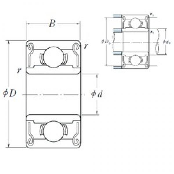 3,175 mm x 6,35 mm x 2,779 mm  ISO R144-2RS deep groove ball bearings #3 image