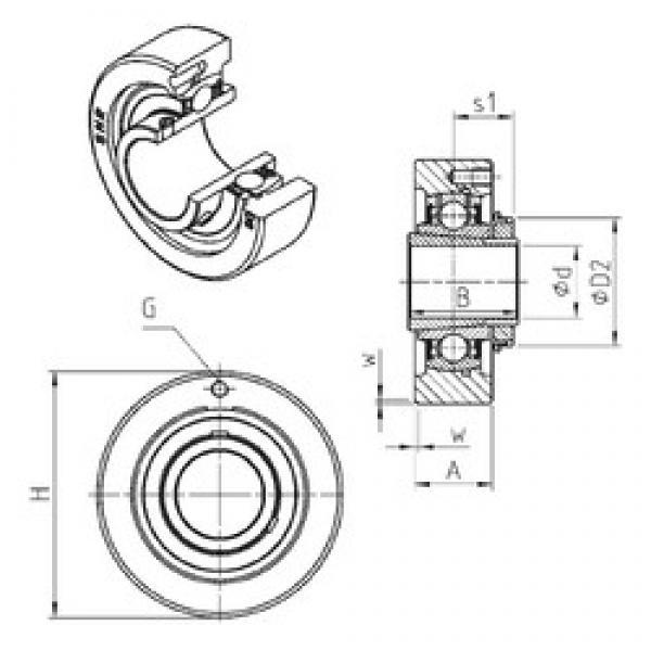 SNR UKC322H bearing units #3 image