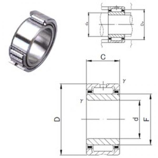60 mm x 85 mm x 25 mm  JNS NA 4912 needle roller bearings #3 image