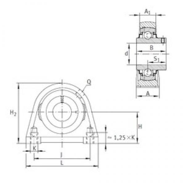 INA RSHEY55 bearing units #3 image