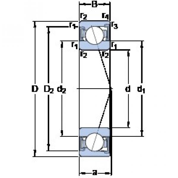 35 mm x 62 mm x 14 mm  SKF S7007 CD/P4A angular contact ball bearings #3 image